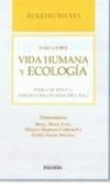 Benedicto XVI habla de vida humana y ecología