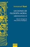Lecciones de filosofía moral. Mrongovius II