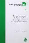 Normas básicas para la formación de los diáconos permanentes en las diócesis españolas