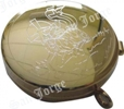 Portaviático dorado cordero grabado