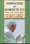 Enseñanzas de Benedicto XVI. (3 / 2007)