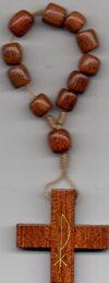 Rosario dedo madera y cuerda N3136