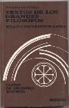 Textos de los grandes filósofos: Edad Contemporánea